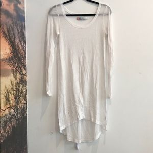 FP beach white ribbed dress/coverup